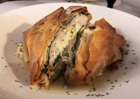 Chicken phyllo from Verdi's Bistro, Marco Island.