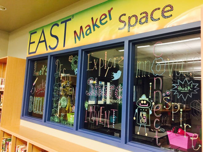 The MakerSpace area of the Hackler Intermediate School Library is used by more than 900 students and teaches 21st century skills, critical thinking, creativity, collaboration and communication. A Teaching Grant from the Mountain Home Education Foundation helped make the area possible.