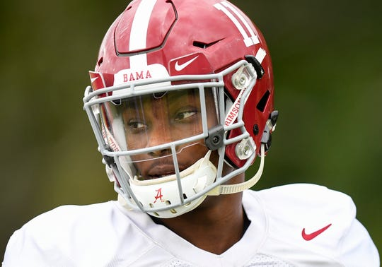 Alabama wide receiver Henry Ruggs, III, (11) during Alabama's practice on the Barry University campus in Miami Shores, Fla., on Wednesday December 26, 2018. Alabama plays Oklahoma in the Orange Bowl on Saturday.
