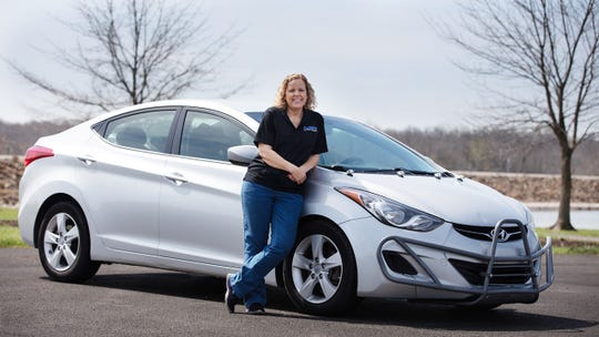 Farrah Haines of Olathe, Kansas, drove her Montgomery-made Elantra a million miles in five years.