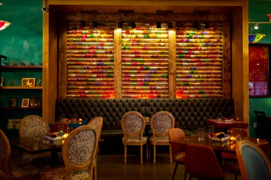 A wall of bangles at Chaatable, Maneet Chauhan's new restaurant in Sylvan Park.