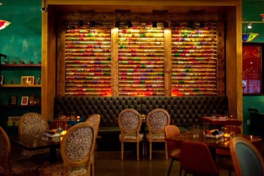 A wall of bangles at Chaatable, Maneet Chauhan's new restaurant in Sylvan Park.