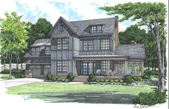 After gaining national recognition for its modern farmhouse design, Carbine is now flipping the tradition with a black farmhouse slated to be built in the new Nature's Landing neighborhood in Franklin.