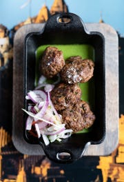 Shammi kebabs: yellow lentil and lamb sliders