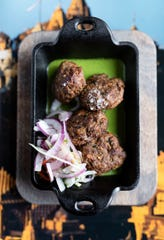 Shammi kebabs: yellow lentil and lamb sliders