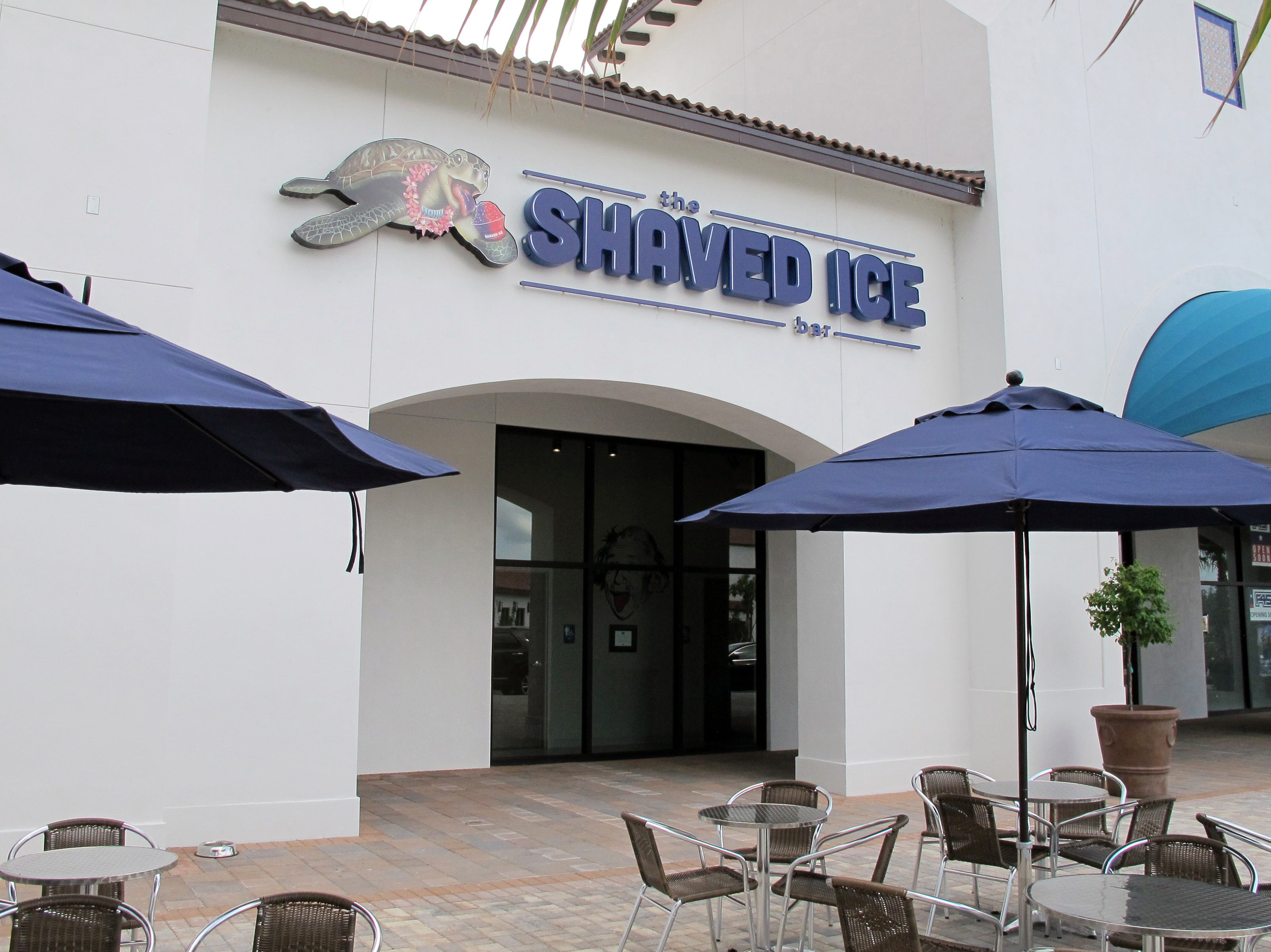 The Shaved Ice Bar opened in spring 2018 in the new University Village shops on Ben Hill Griffin Parkway near Florida Gulf Coast University.