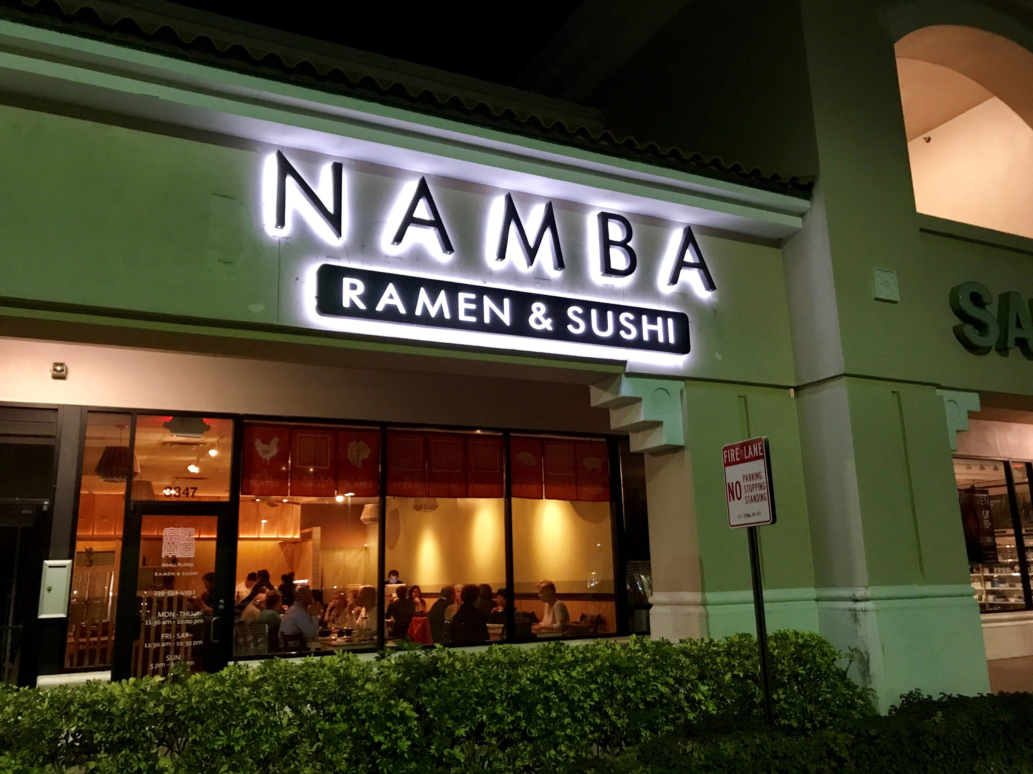 Namba Ramen & Sushi restaurant opened in January 2018 in the Marketplace at Pelican Bay on the southwest corner of U.S. 41 and Vanderbilt Beach Road in North Naples.