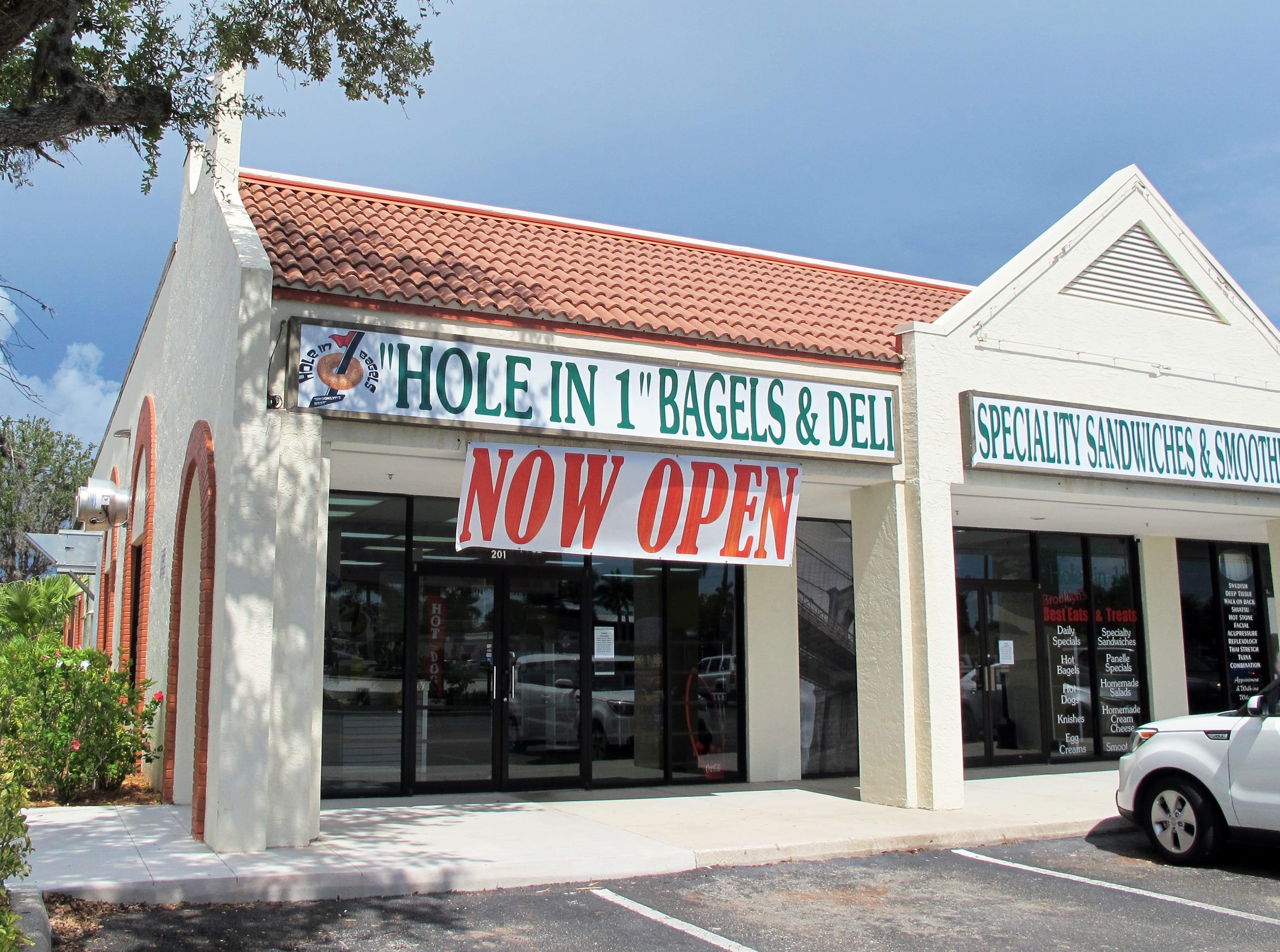 Hole in 1 Bagels & Deli opened in June 2018 in the former Radio Shack store on U.S. 41 south of Bonita Beach Road in Bonita Springs.