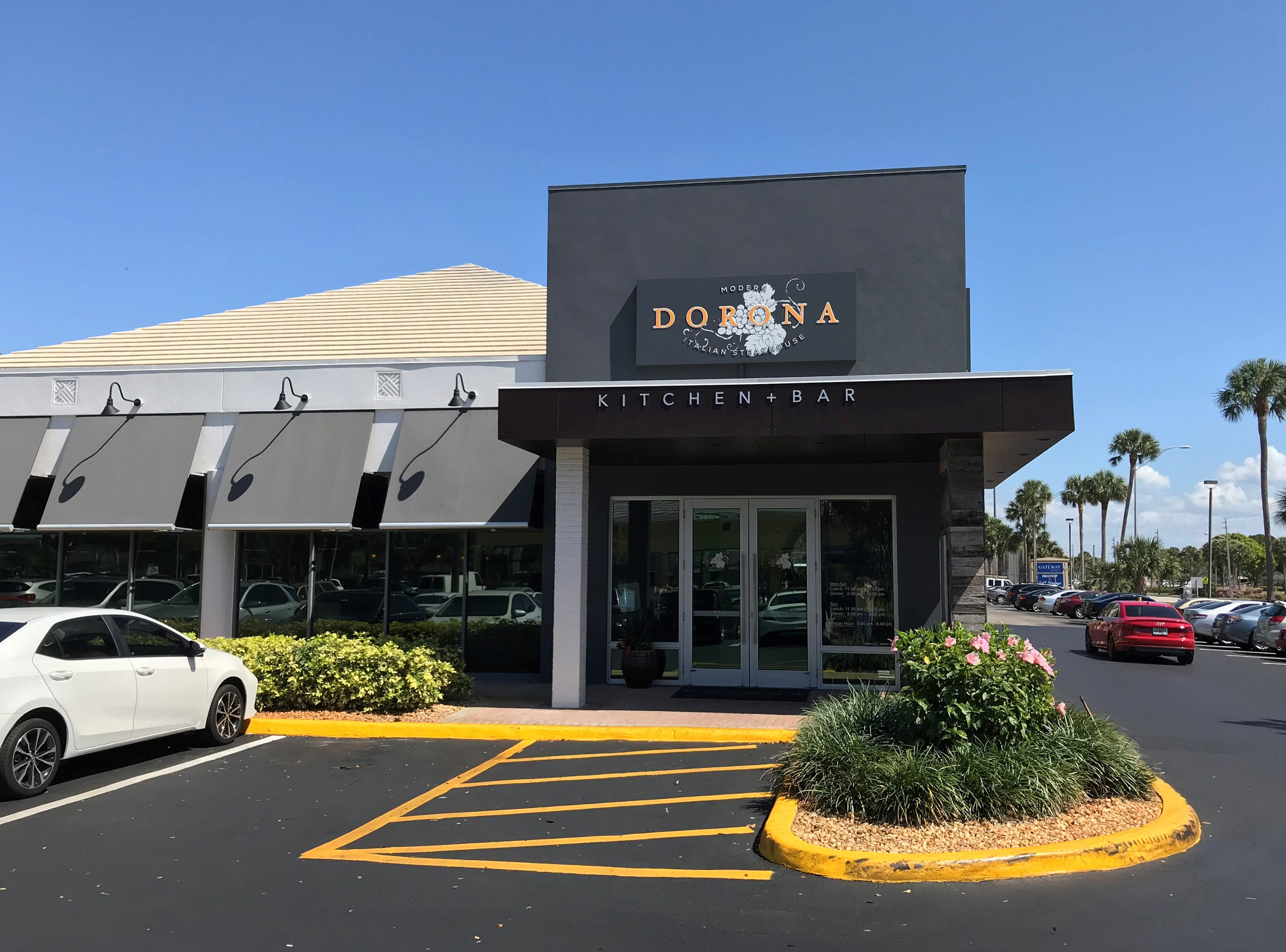 Dorona Italian steakhouse opened in January 2018 in the former space of Midtown Kitchen + Bar and TGI Friday's in Naples.