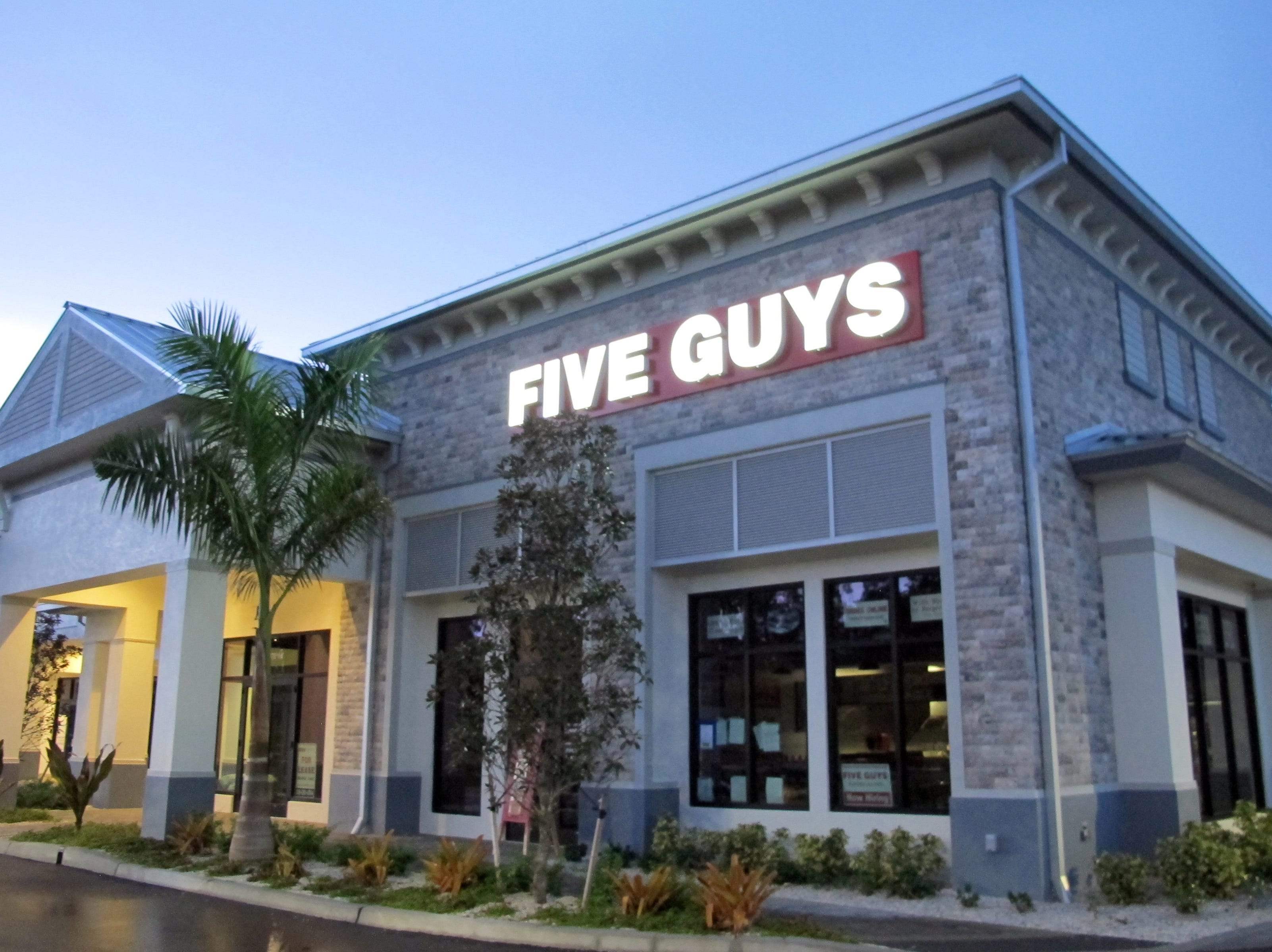 Five Guys Burgers & Fries opened a new location Oct. 1, 2018, on the eastern end of the new Vanderbilt Commons retail center on Vanderbilt Beach Road.