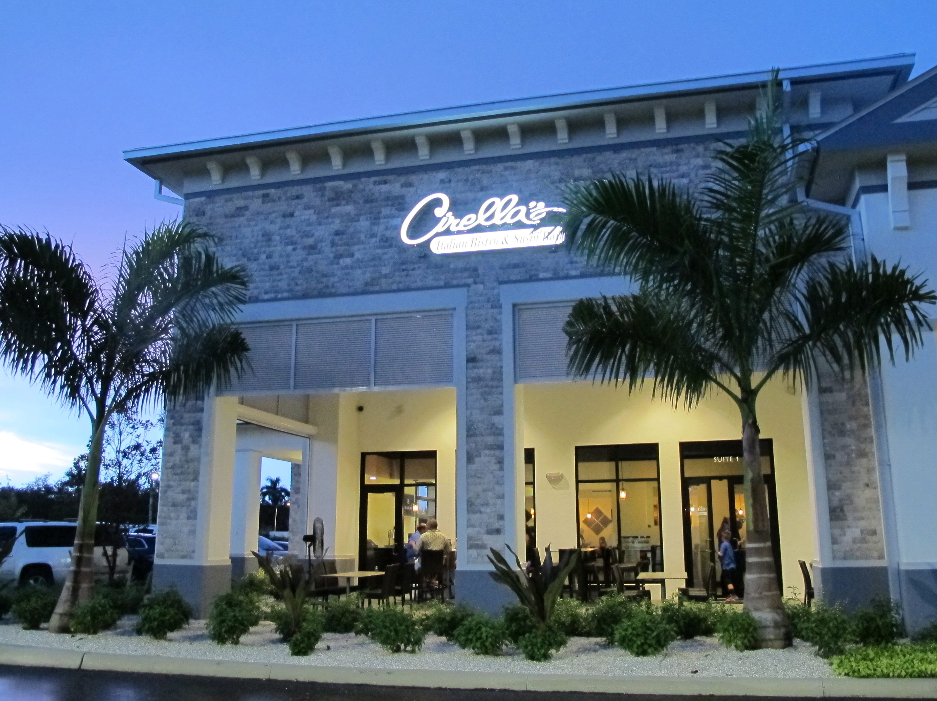 Cirella's Italian Bistro & Sushi Bar opened its second area location in September 2018 on Vanderbilt Beach Road just west of Collier Boulevard in North Naples.