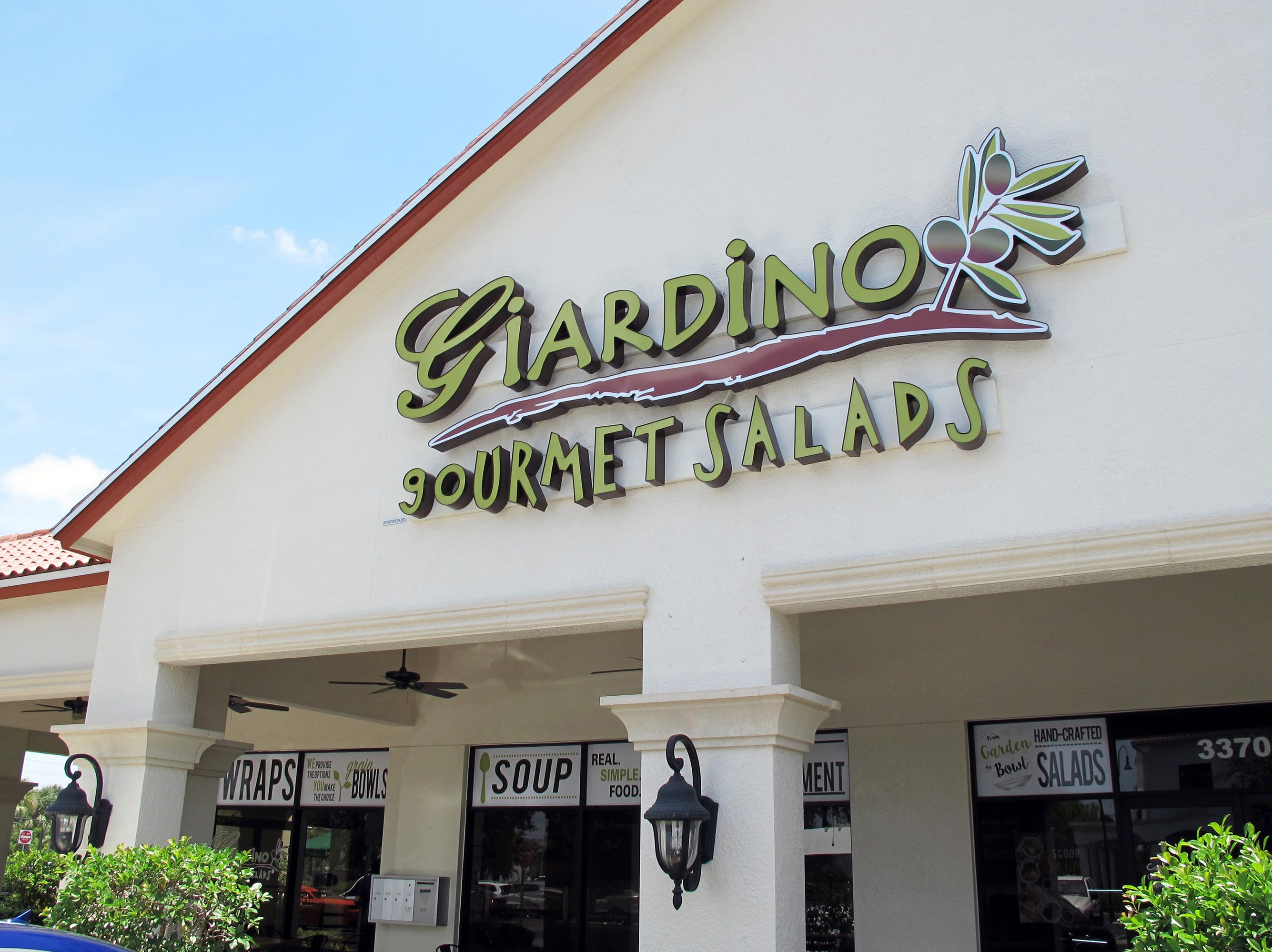 Giardino Gourmet Salads launched in July 2018 in Marquesa Plaza at 3370 Pine Ridge Road in Naples.