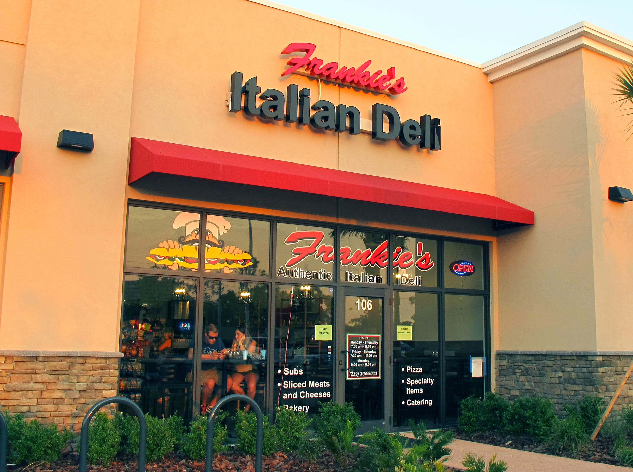 Frankie's Italian Deli launched in April 2018 at 6654 Collier Blvd., near the Walmart Supercenter south of U.S. 41 East in East Naples.