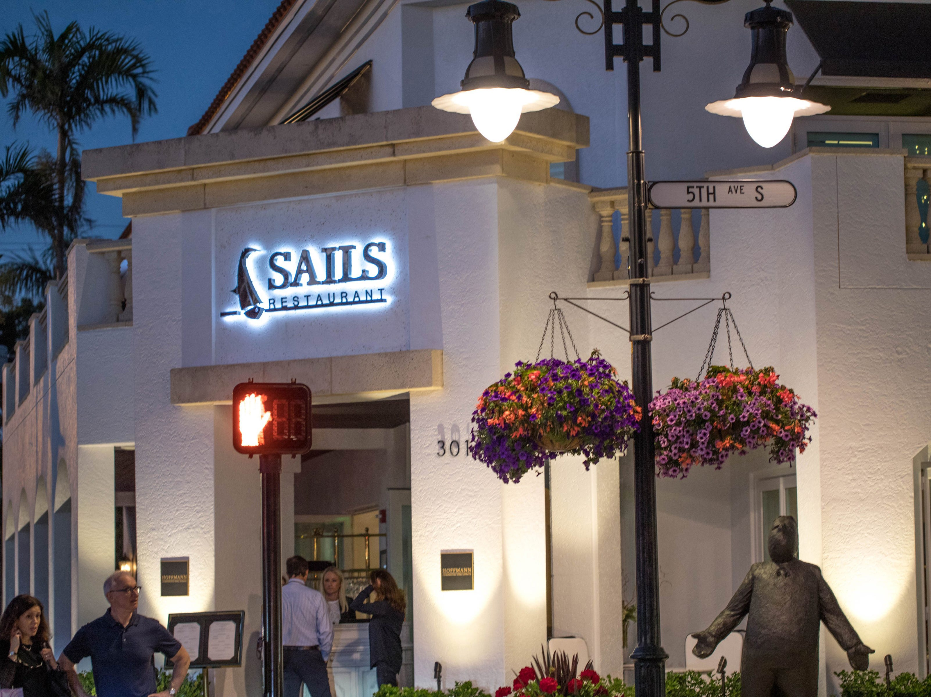 Sails Restaurant launched in February 2018 on the northeast corner of Fifth Avenue South and Third Street South in downtown Naples.