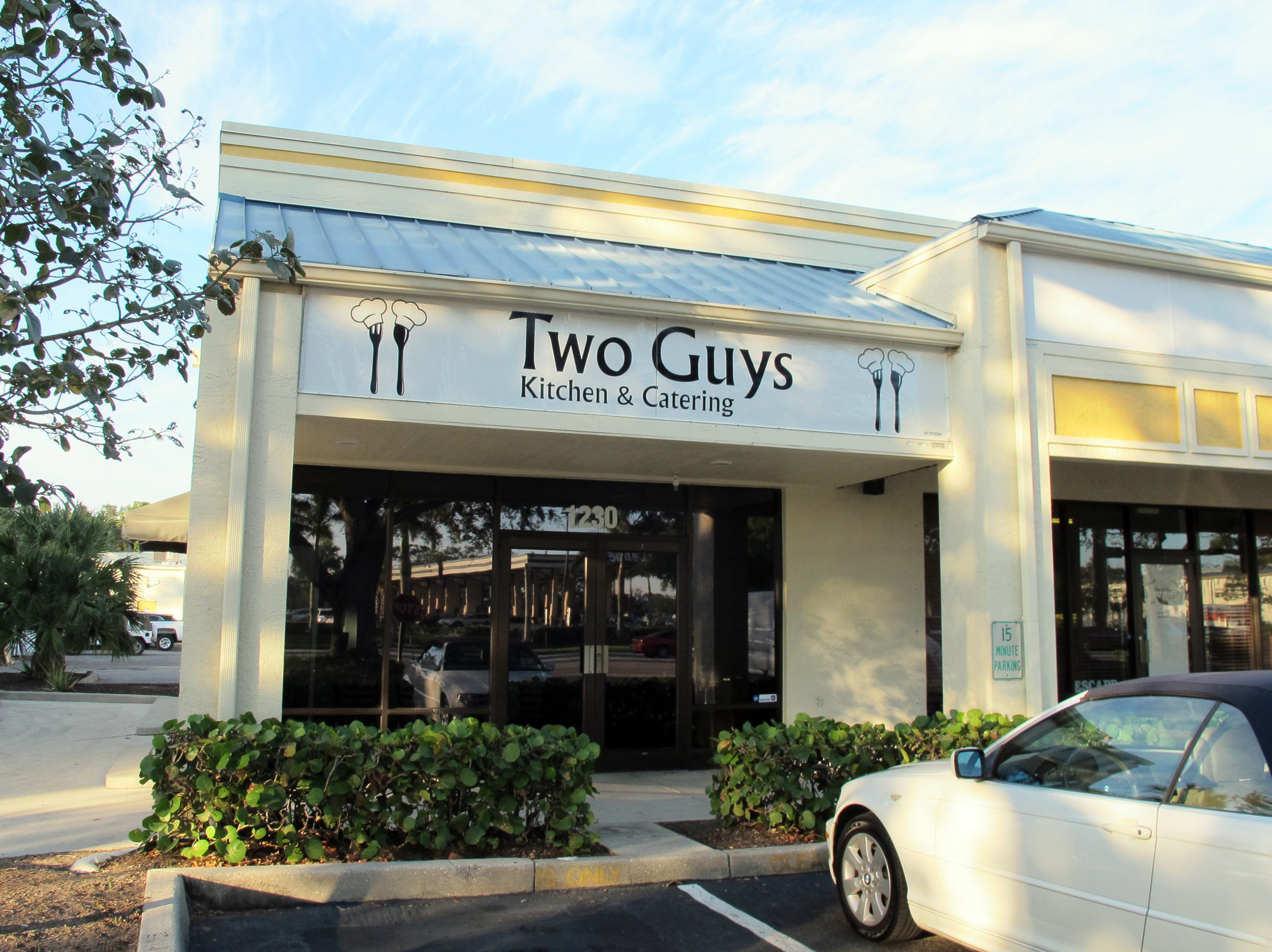 Two Guys Kitchen & Catering opened in February 2018 in River Reach Plaza off Airport-Pulling Road in East Naples.