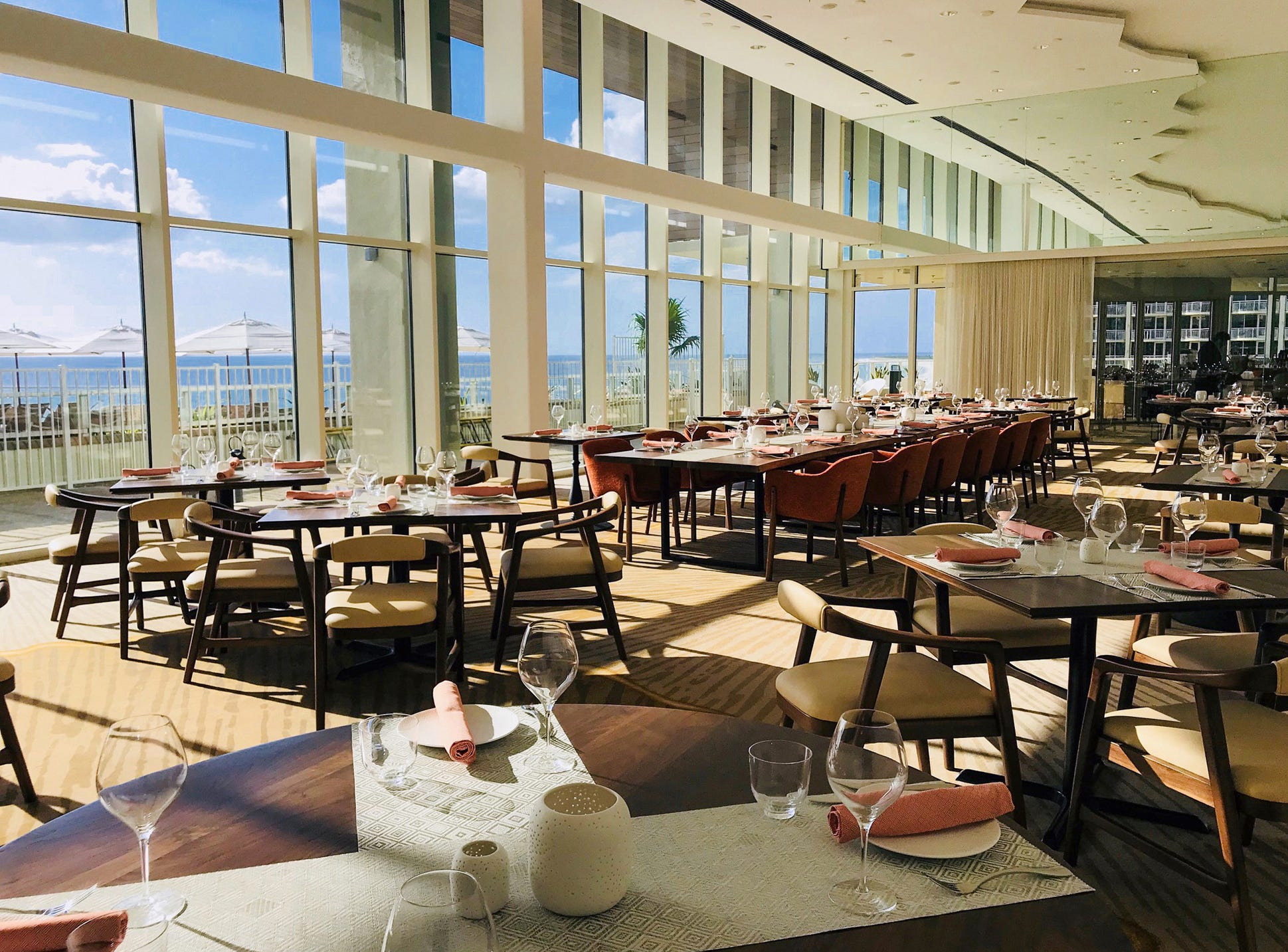 The main dining room of Tesoro, which opened in October 2018 at JW Marriott Marco Island Beach Resort.