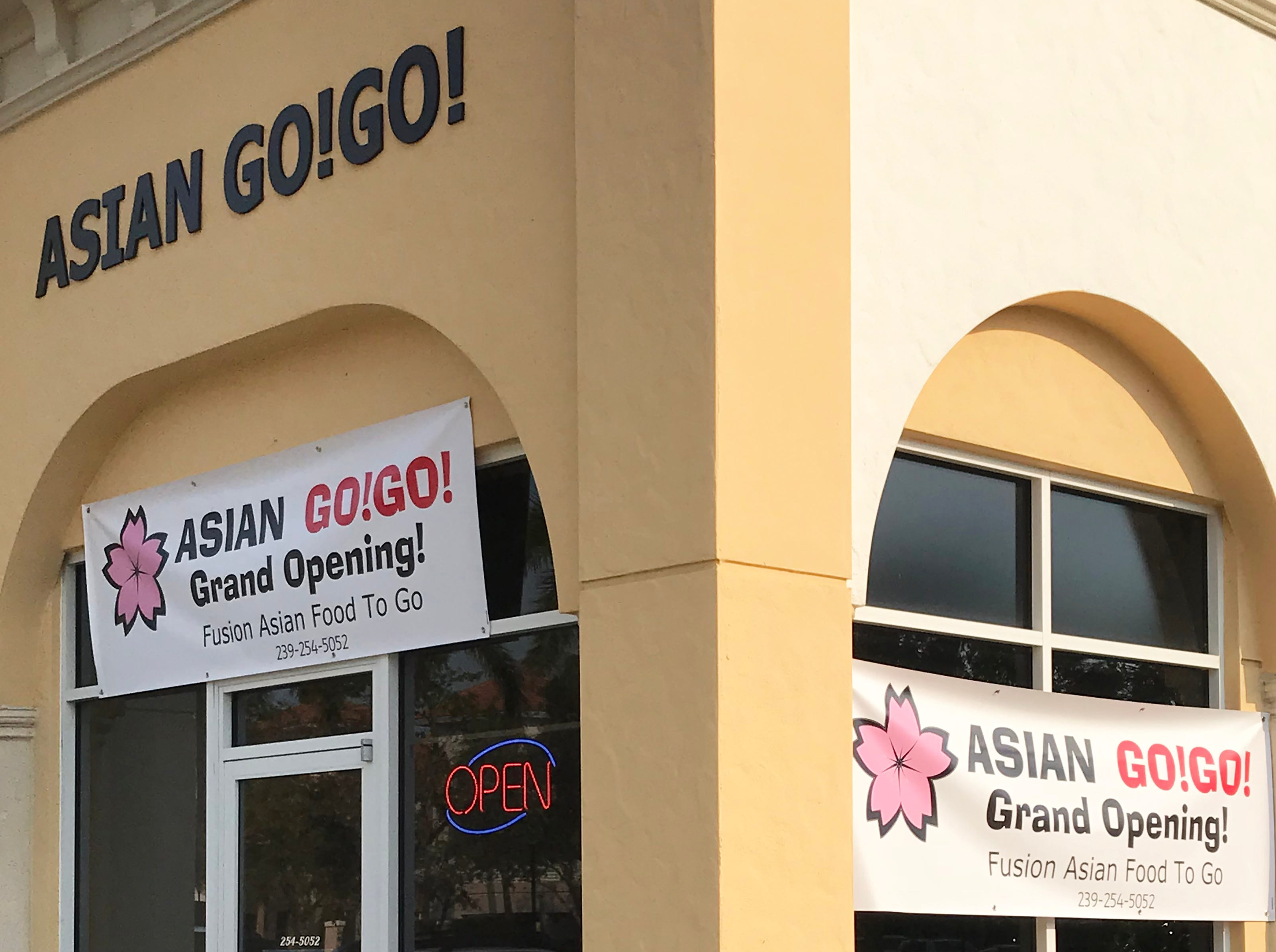 Asian Go!Go! opened in February 2018 in the Galleria Shoppes off Vanderbilt Beach Road in North Naples.
