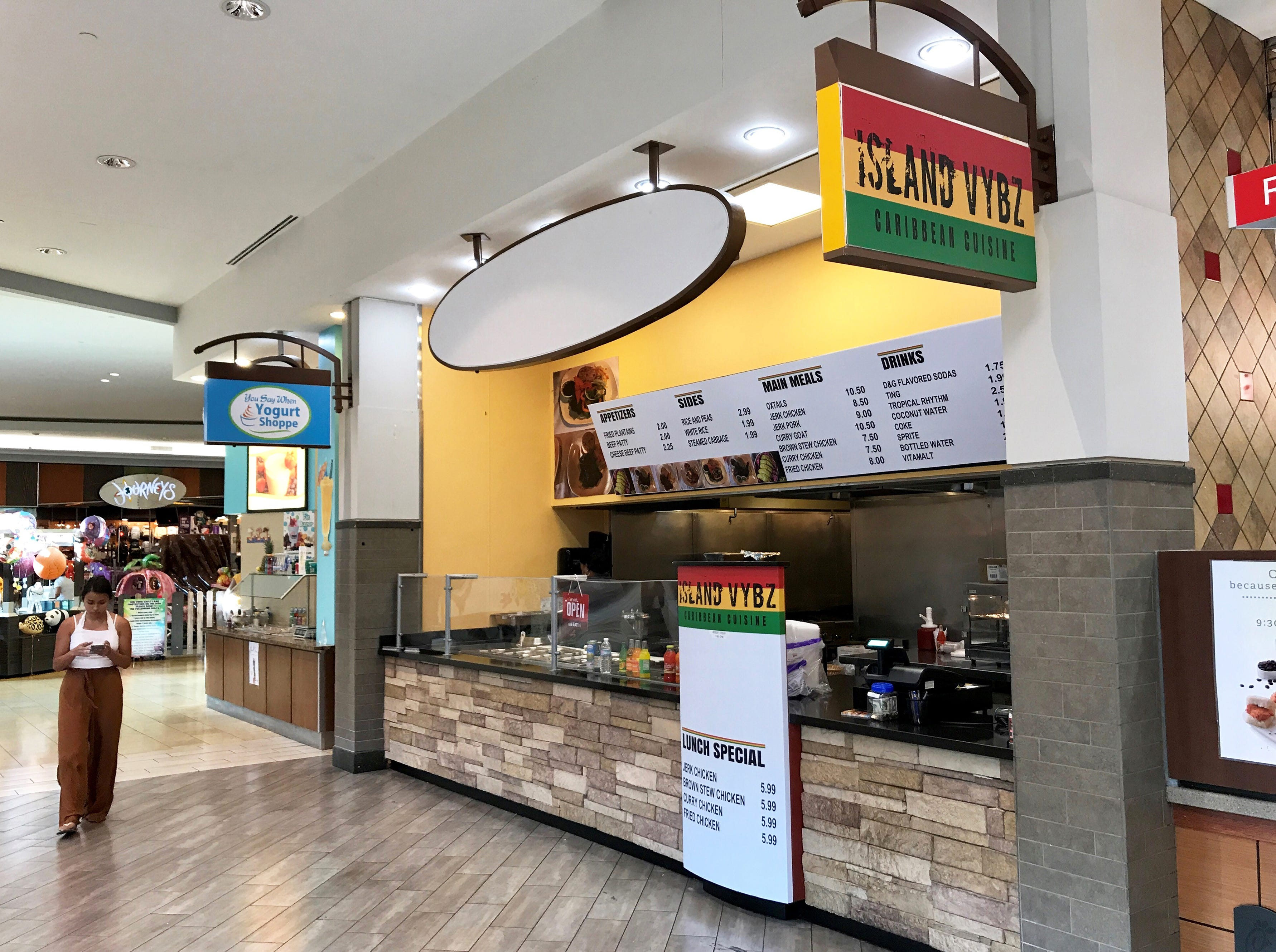Island Vybz Caribbean Cuisine opened in April 2018 next to Chick-fil-A in the food court at Coastland Center mall in Naples.