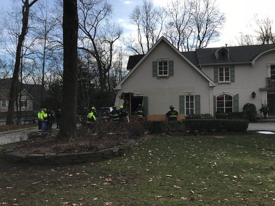 Car crashes into Franklin Lakes home on Christmas morning.