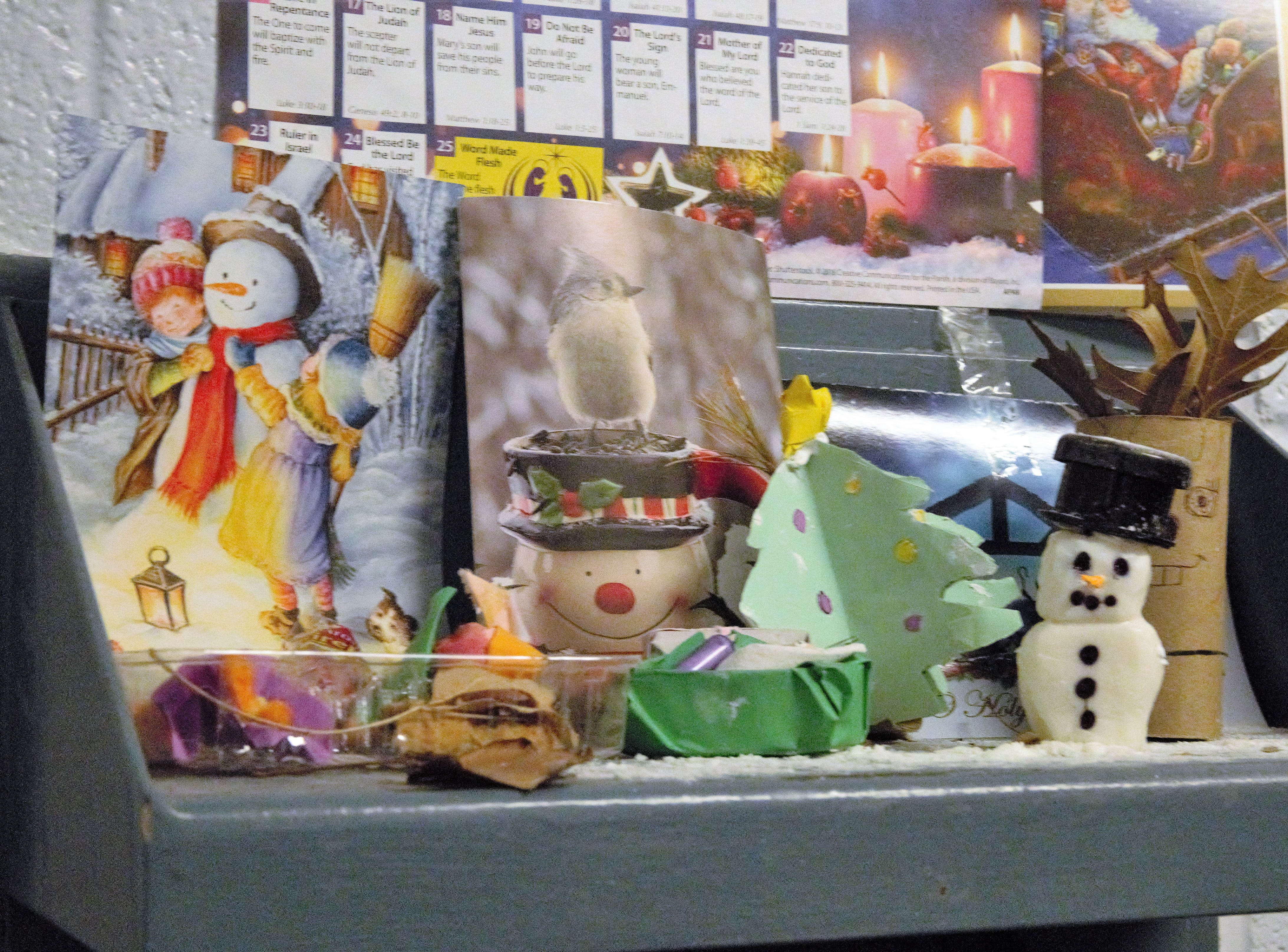 Inmates at the Doña Ana County Detention Center crafted a Christmas-themed shelf, on display Tuesday, Dec. 25, 2018.