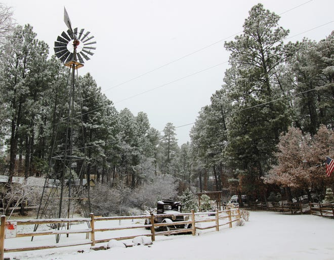 Ruidoso woke up to a blanket of white turning the Village into a beauty sight to see.