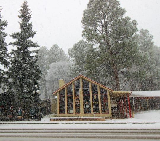 Shops in midtown during winter months bring visitors from near and far to the village of Ruidoso.