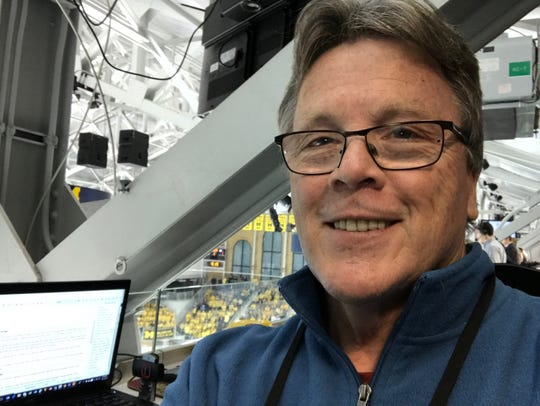 One of Tim Smith's final assignments of a career that began in early 1986 was Dec. 1 at University of Michigan's Yost Arena , where he covered a college hockey game between the Wolverines and Michigan State.