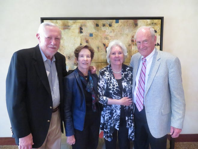 left to right: Chuck Geschke, Nan Geschke,Roberta Klein, Clay Klein