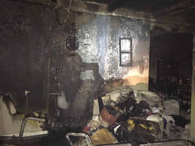 A structure fire in the 900 block of Rentz Avenue caused major damage on Tuesday, Dec. 25, 2018. The resident was transported to the hospital as a trauma alert.