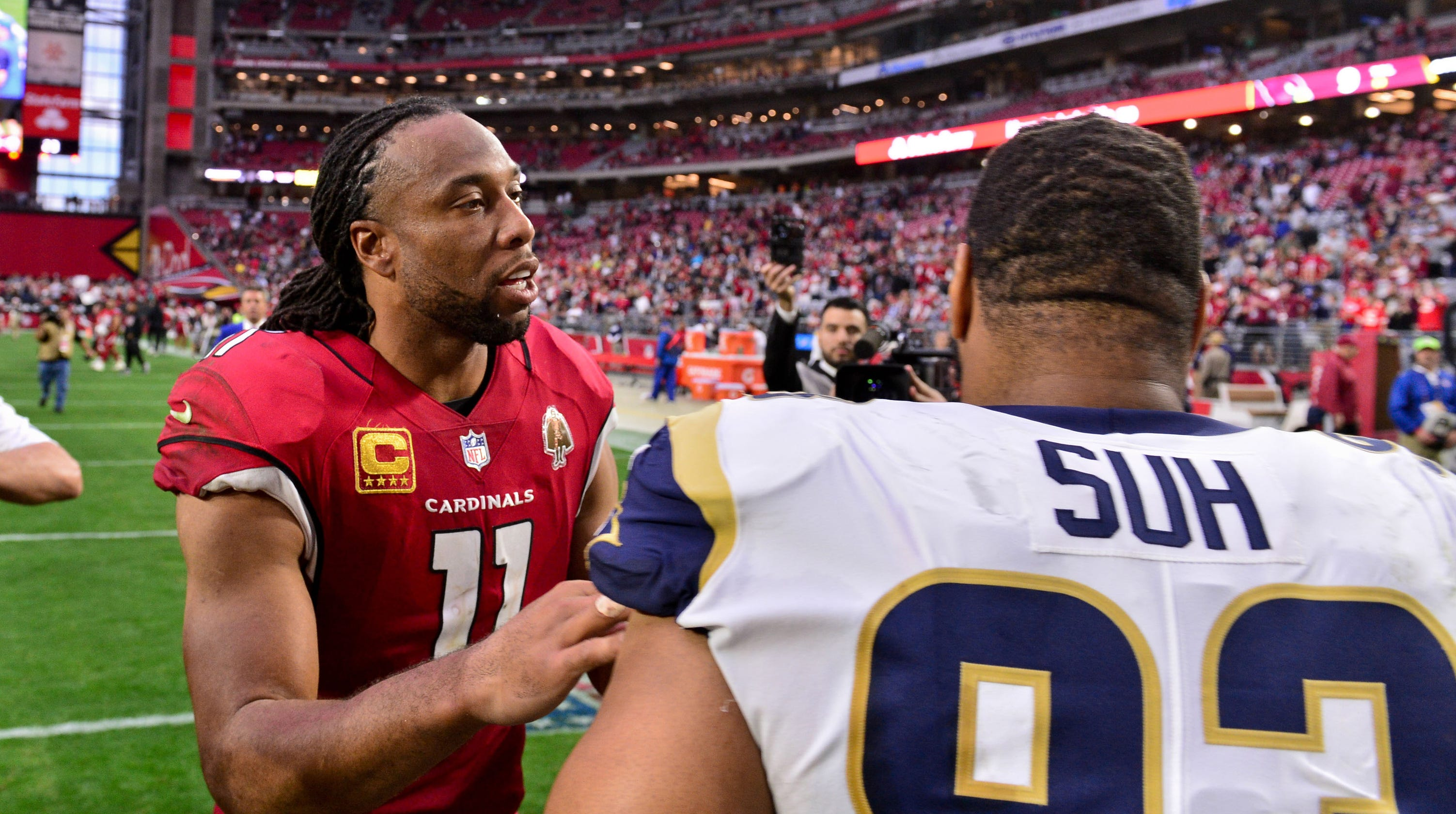 brand new 1a0dd d28b0 Larry Fitzgerald eye-poking incident with Ndamukong Suh