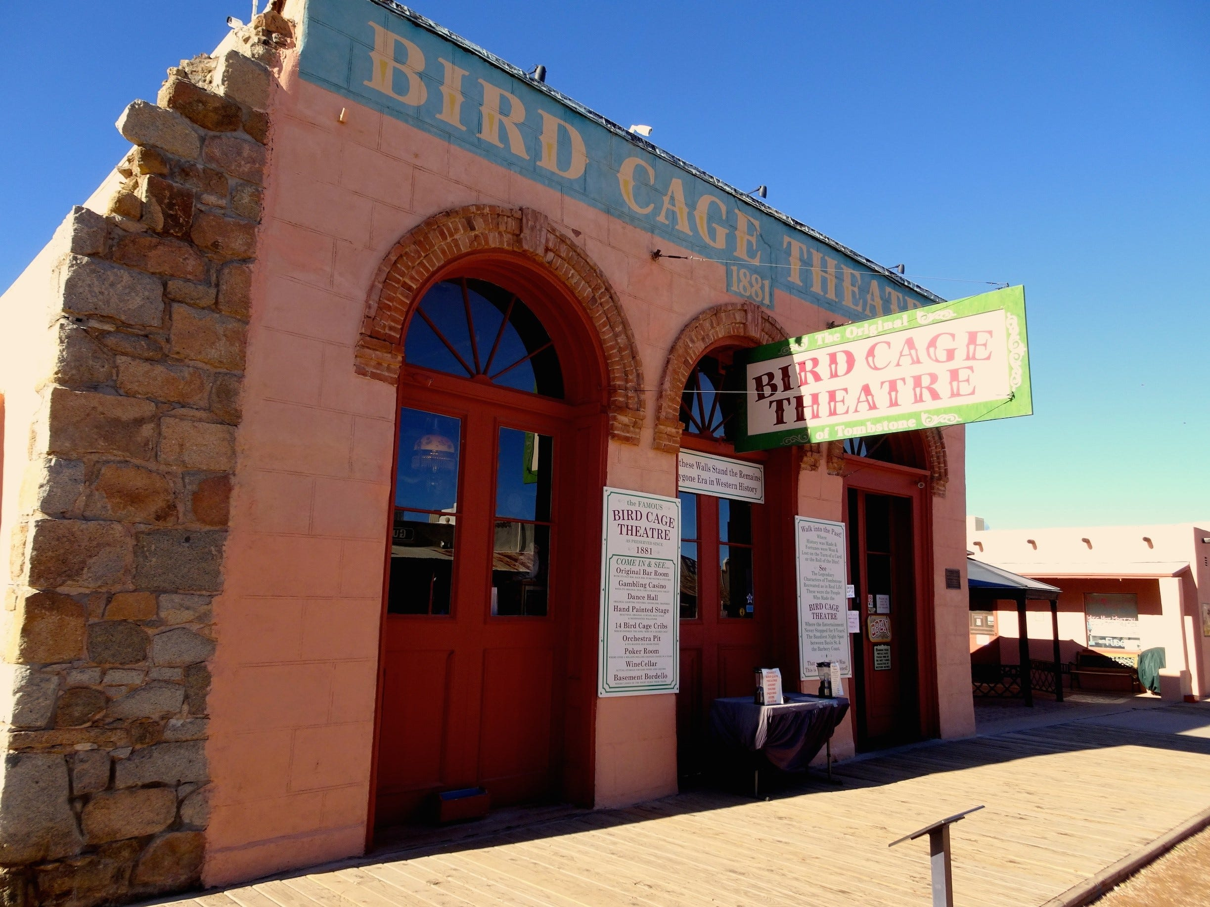 The Birdcage Theatre offers a step back in time to Tombstone's rowdy history.