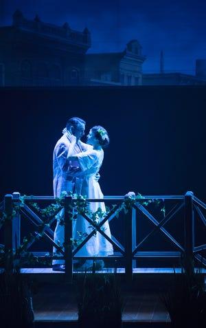"Bill English and Manna Nichols in Arizona Theatre Company's ""The Music Man."""