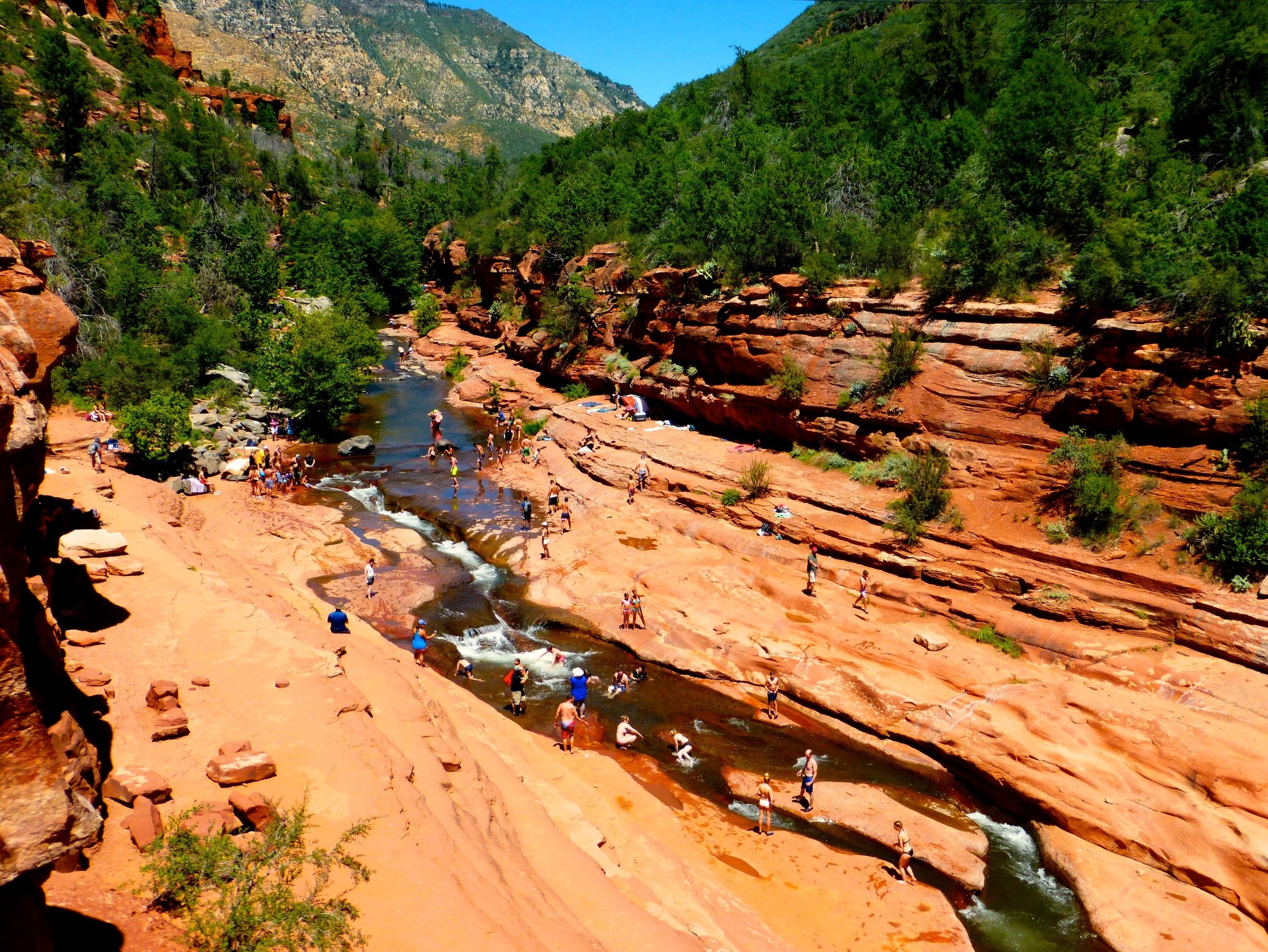 Slide Rock in Oak Creek Canyon north of Sedona is one of the Southwest's most famous swimming holes.
