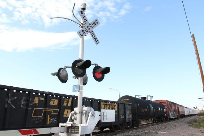 A Union Pacific train derailed near 24th Avenue and Washington Street in Phoenix on Dec. 26, 2018.