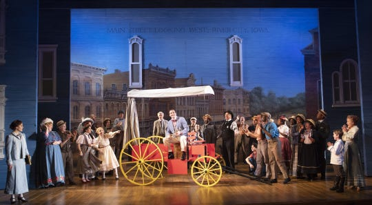 """Arizona Theatre Company's """"The Music Man"""" is directed by David Ivers with scenic design by Tony Award winner Scott Pask."""