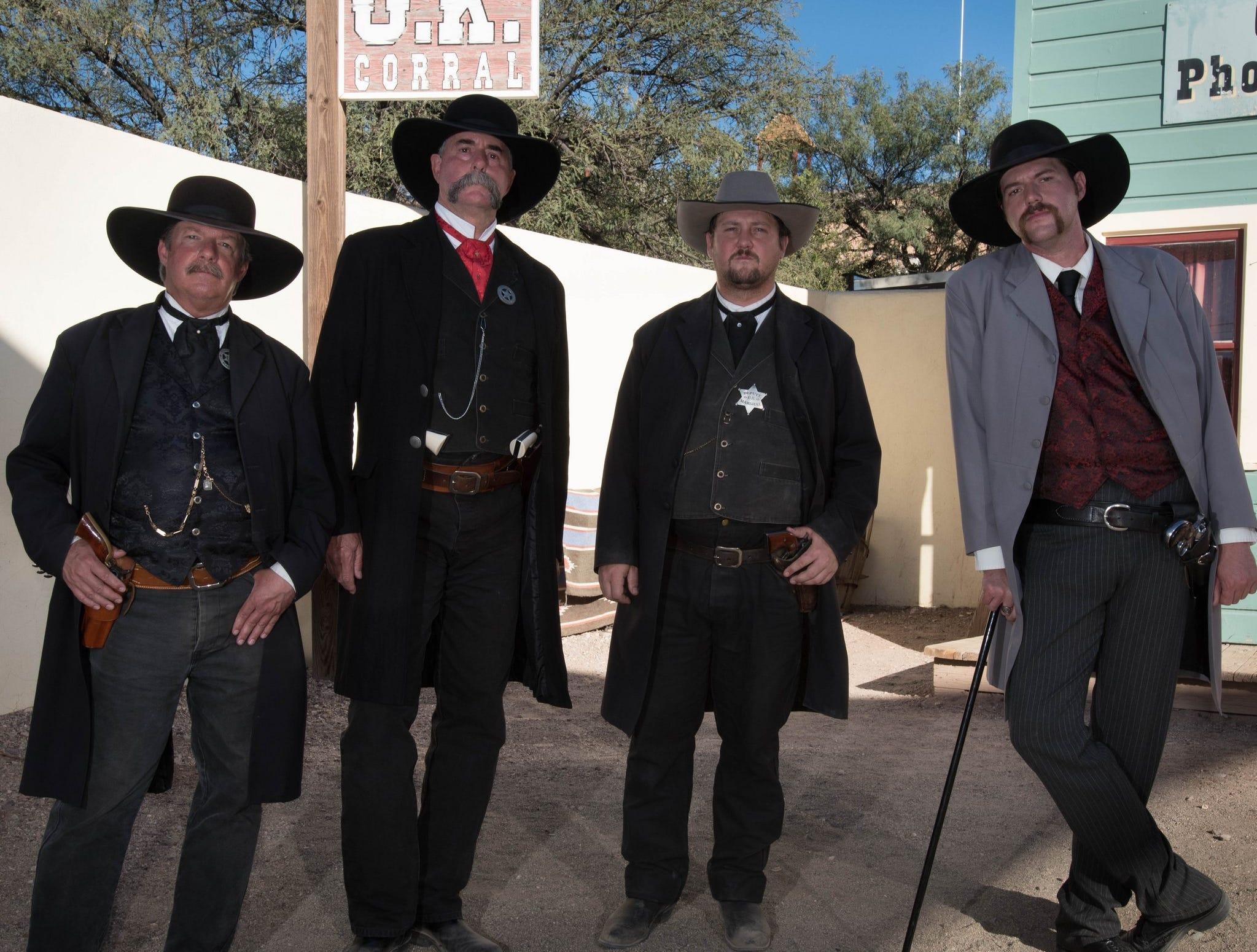 The most famous gunfight of the Old West is re-enacted daily at Tombstone's O.K. Corral.