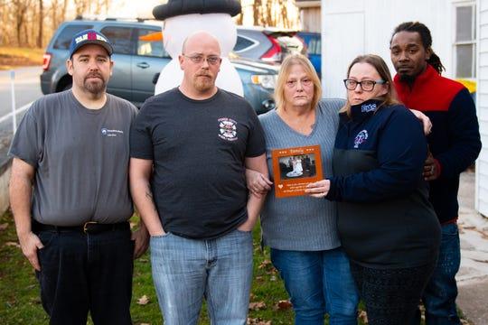 York EMT Robert Kohler Sr. lives on through his family, (left to right) Eric Sweitzer, Robert Kohler Jr., Joanne Kohler, Amy Alexander and Anthony Alexander, shown here on Dec. 26, 2018.