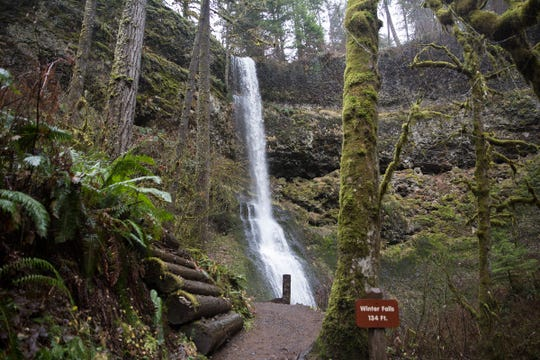 Winter Falls, a 134-foot waterfall in South Falls at Silver Falls State Park in Sublimity on Wednesday, Dec. 26, 2018.