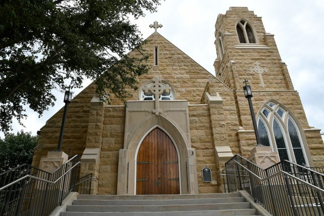 Emmanuel Episcopal Church at 3 S. Randolph St. is home to one of the oldest congregations in San Angelo. The present church was built from the stones of the old Tom Green County Courthouse, which was torn down in 1927.