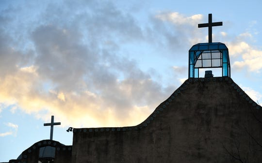 Sunrise illuminates the crest of the older portions of St. Joseph's Church at 301 W. 17th St., in San Angelo. The parish has served the community since 1936.