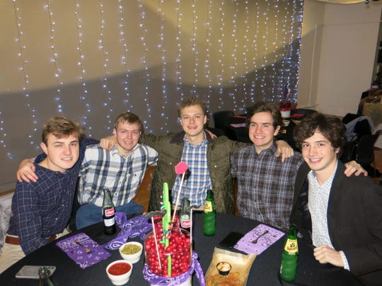 "Guests at ""Holiday Hoedown"" included: Quintin Hardtner, Mark Dupaquier, Harrison Rosen, Trent Robertson, Spencer Hardtner."