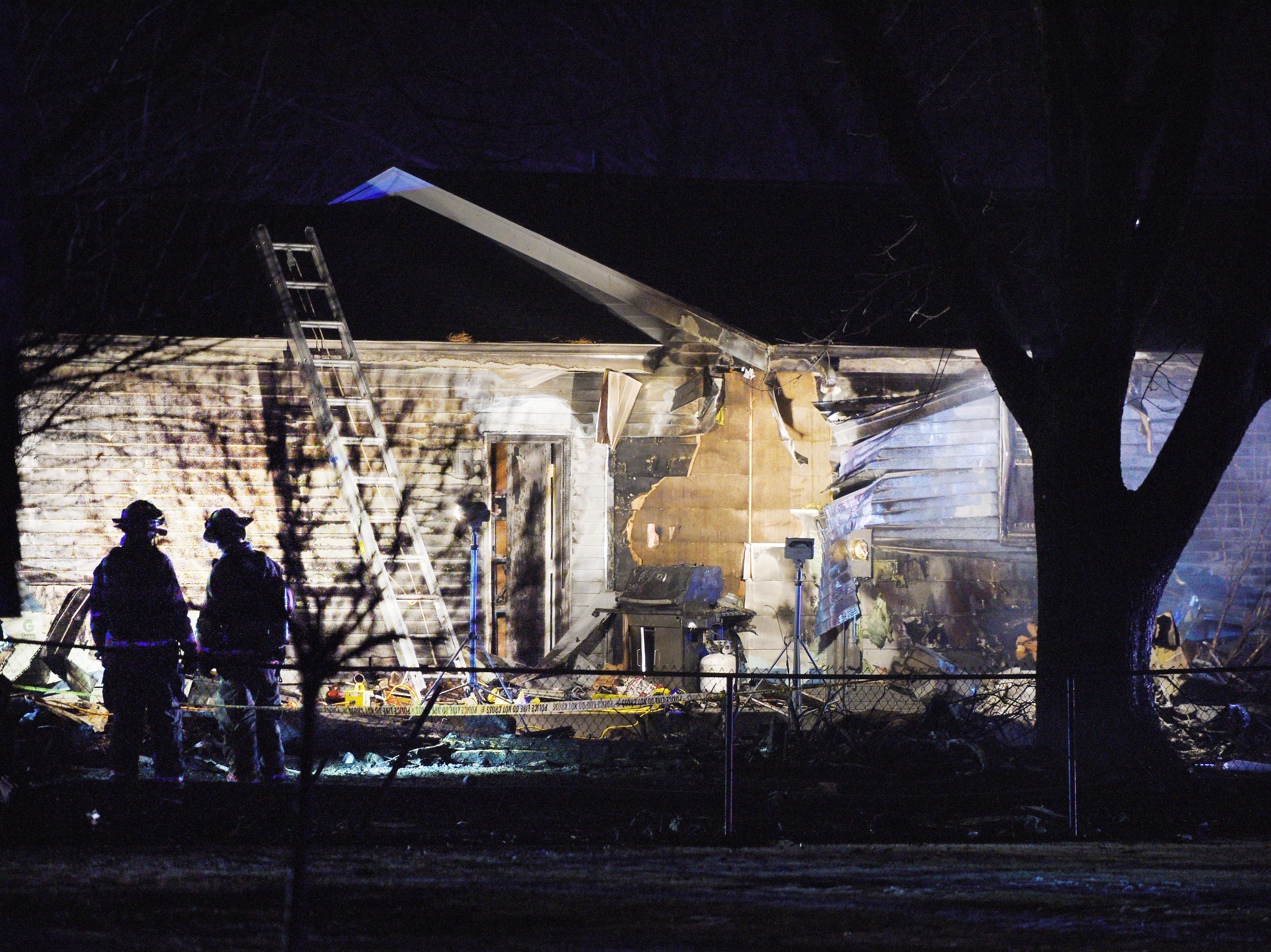 A plane crashed into a home in the 4200 block of south Birchwood Avenue Tuesday, Dec. 25, in Sioux Falls.