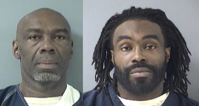 Elbert Taylor, left, and his son Aaron Taylor have been charged with aiding and abetting assault in a Dec. 20 incident.