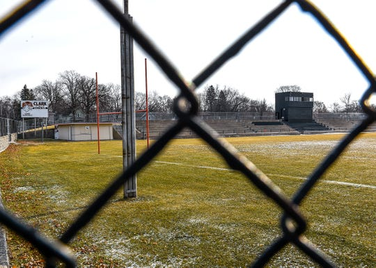 Clark Field near Technical High School shown Wednesday, Dec. 26, in St. Cloud.