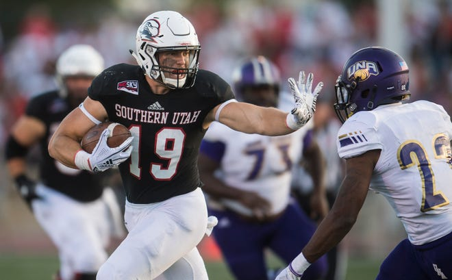 SUU tight end Logan Parker (19) will look to earn a spot on the 2019 Kansas City Chiefs roster.