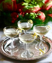 This delicious retro Meyer Lemon French 75 Cocktail is perfect to welcome New Year.