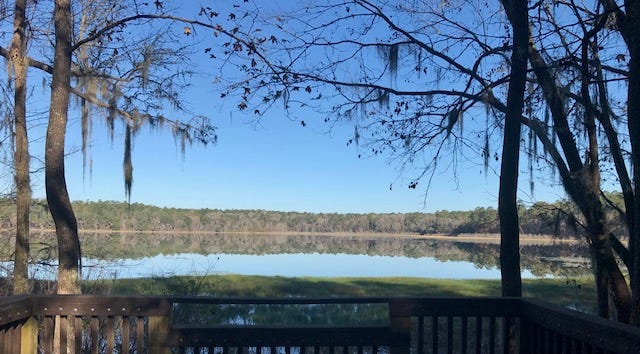 View of the pristine Lake Overstreet from the trail.