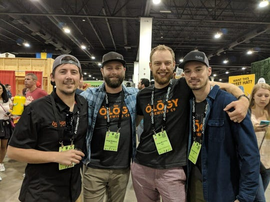 Team Ology enjoys the Great American Beer Festival, where Juice Lab ranked as a Top 50 beer.