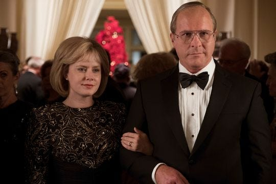 "Christian Bale, right, and Amy Adams star in ""Vice,"" which opened this week."