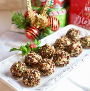 Mini Cranberry Pecan Goat Cheese Balls make a festive appetizer.